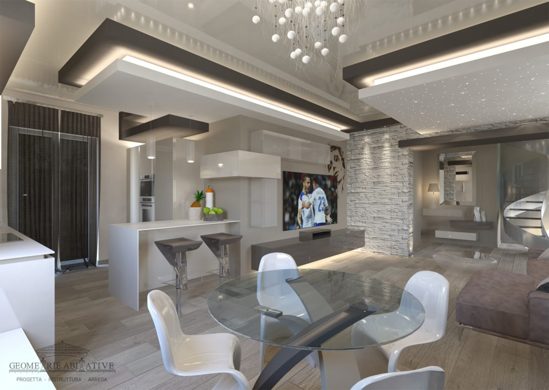 Ristrutturazione soggiorno moderno di geometrie abitative for Progetto arredo casa on line