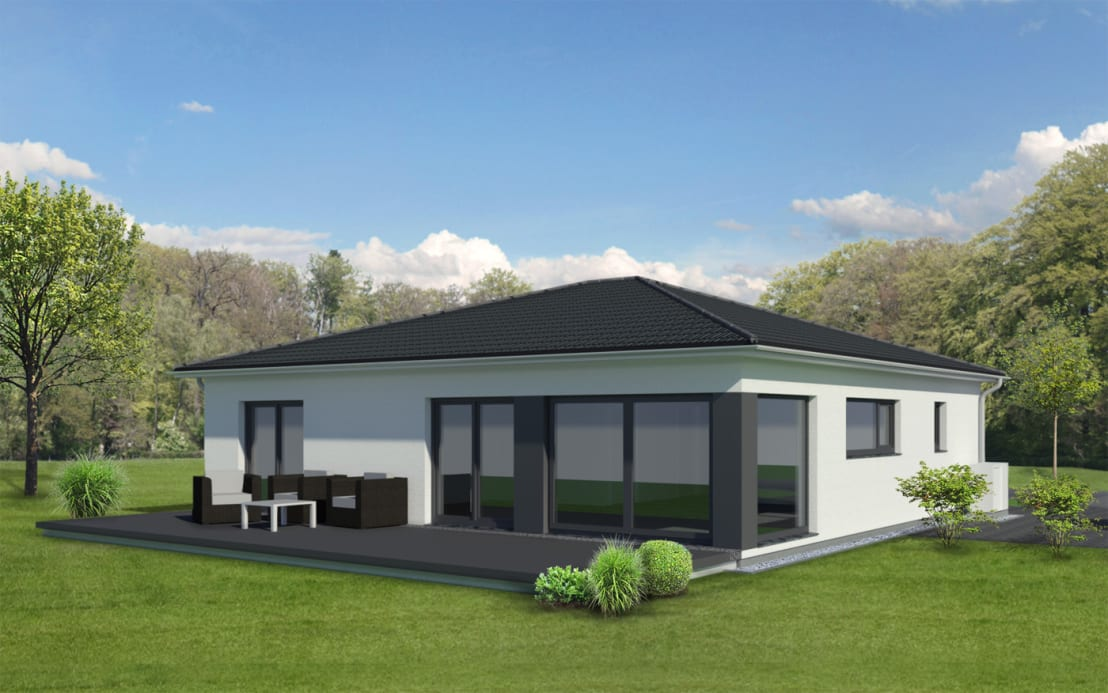Bungalow modern von gmbh co kg homify for Moderne bungalows bauen