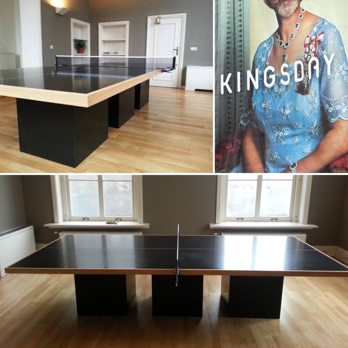 Ontwerp vergadertafel meubel voor reclamebureau kingsday for Auto interieur reinigen amsterdam