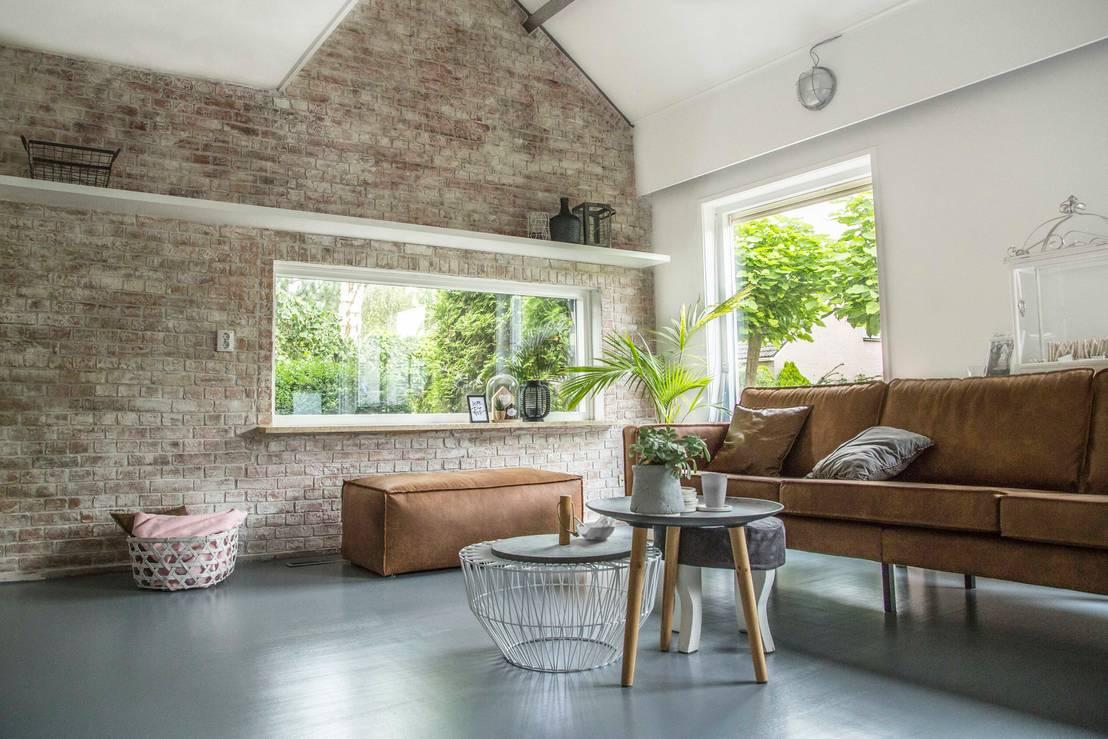 Een oude industri le bakstenen muur in uw woonkamer by stonepress homify - Bakstenen muur woonkamer ...