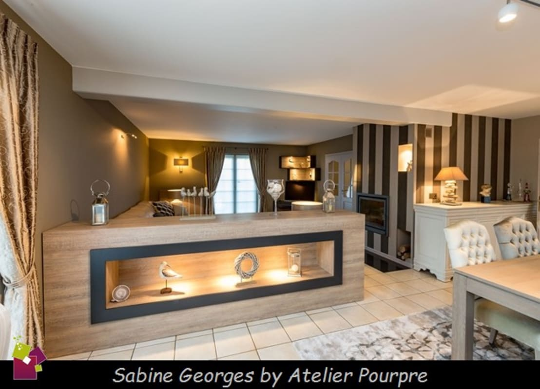 Am nagement s jour et hall conception de mobilier par for Mobilier sejour design