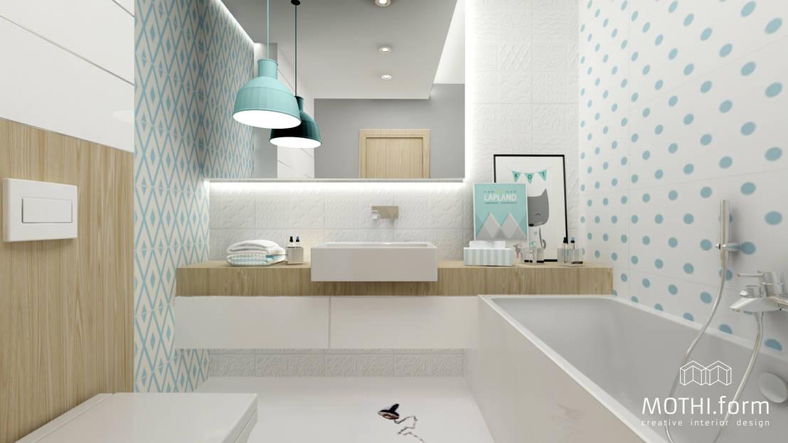 Projekt łazienki w kropki by MOTHI.form  homify