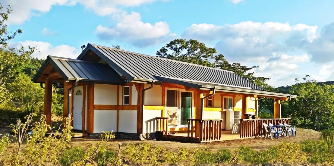 Casa peque a de madera planos - Casa pequena de madera ...