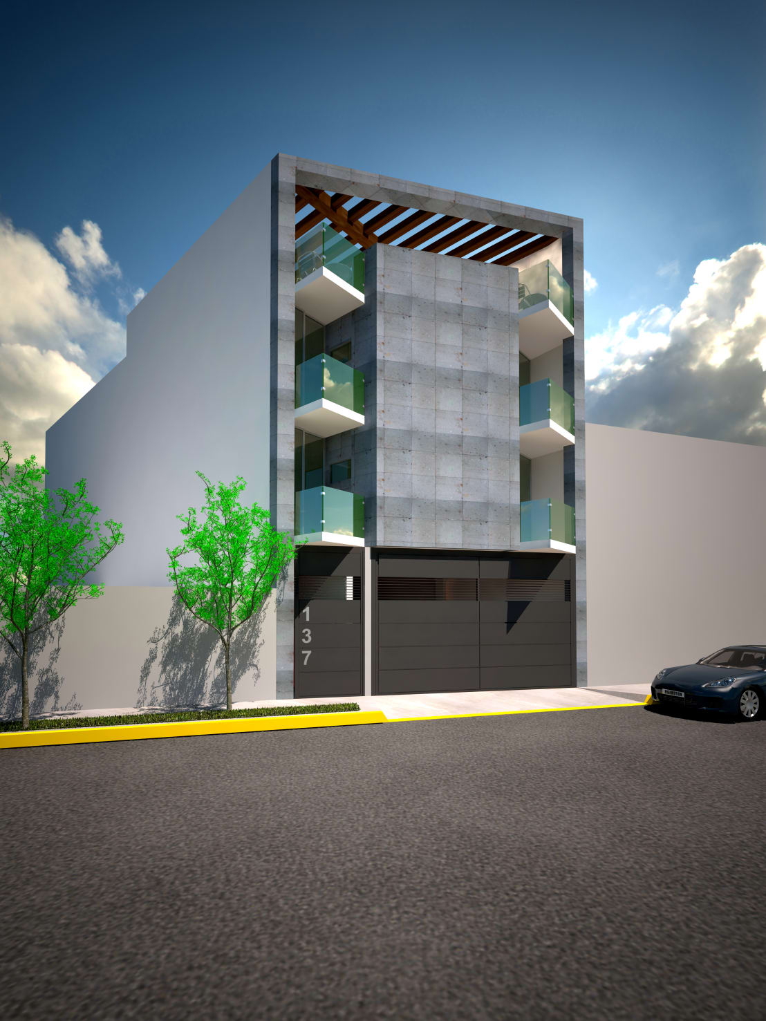 Edificio de departamentos de bta dise o y construccion for Disenos de departamentos minimalistas