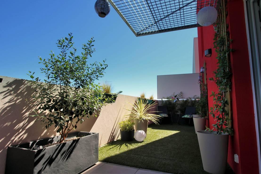 les jardins de marion une terrasse en ville de 25 m2 homify. Black Bedroom Furniture Sets. Home Design Ideas