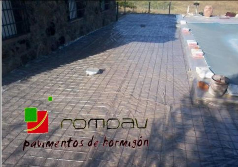 Pavimentos de hormigon impreso por rompav hormigon impreso for Pavimentos de hormigon