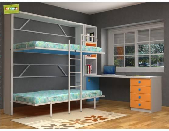 Literas abatibles con estructura metalica en soria de muebles parchis dormitorios juveniles - Muebles literas abatibles ...