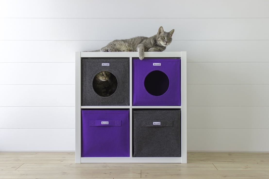 neue nutzung f r ikea kallax regal von die moderne katze. Black Bedroom Furniture Sets. Home Design Ideas