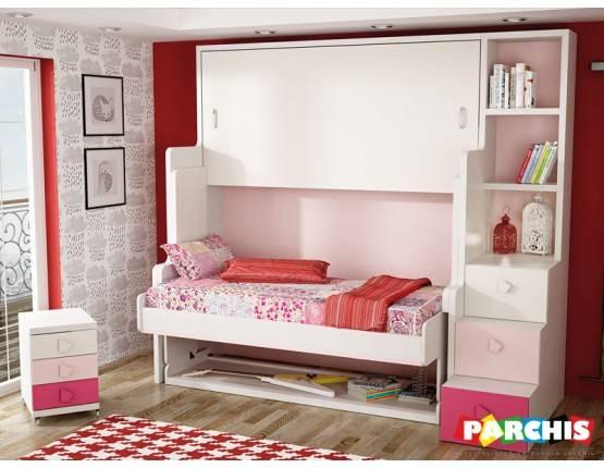 Habitaciones para espacios reducidos con cama escritorio for Muebles parchis