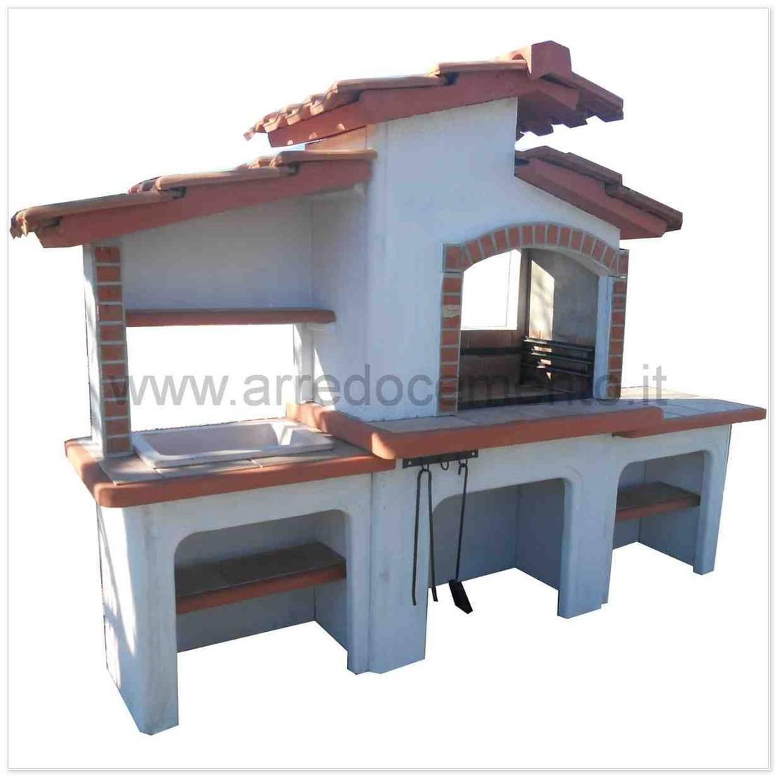 Forni e barbecue in muratura di arrecocemento homify - Barbecue a legna da esterno ...
