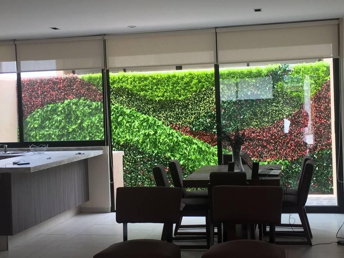 Muro verde de arquitectura org nica viviana font homify for Muros verdes arquitectura