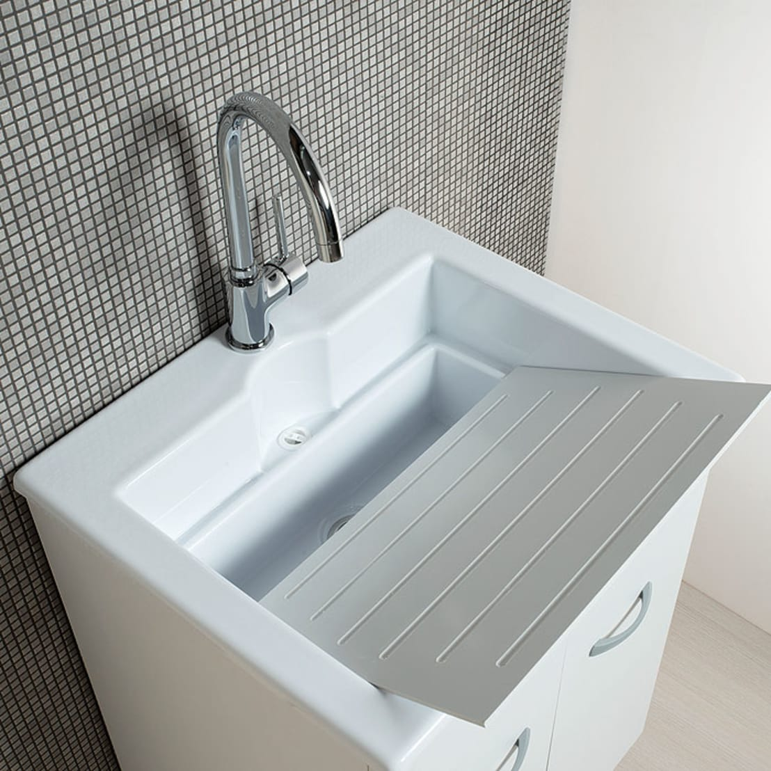 Mobile lavanderia 60x50 zeus con vasca lavatoio in abs for Lavello per lavanderia