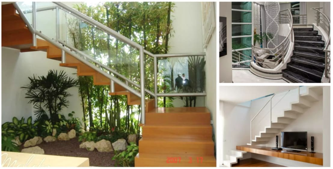 17 escaleras que se ver n preciosas en casas modernas for Escalera de bloque de jardin