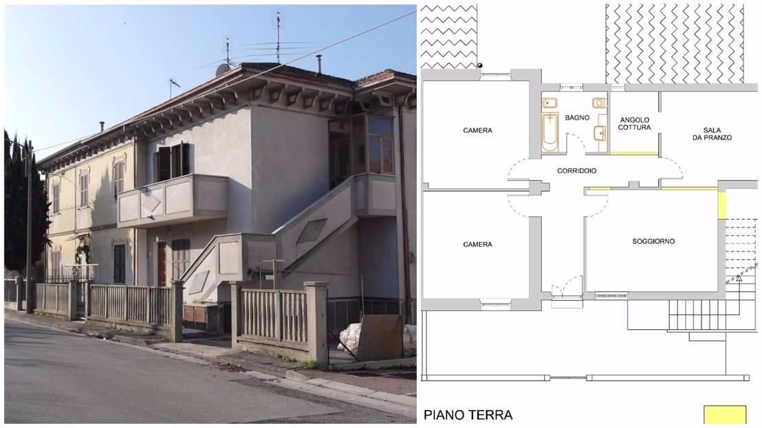 La trasformazione di una vecchia casa anni 39 50 senigallia for Casa a forma di v