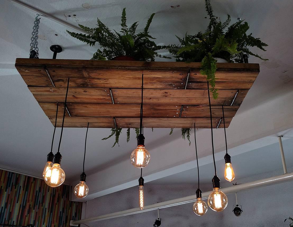 Iluminacion estilo industrial vintage deco bar de lamparas - Iluminacion estilo industrial ...