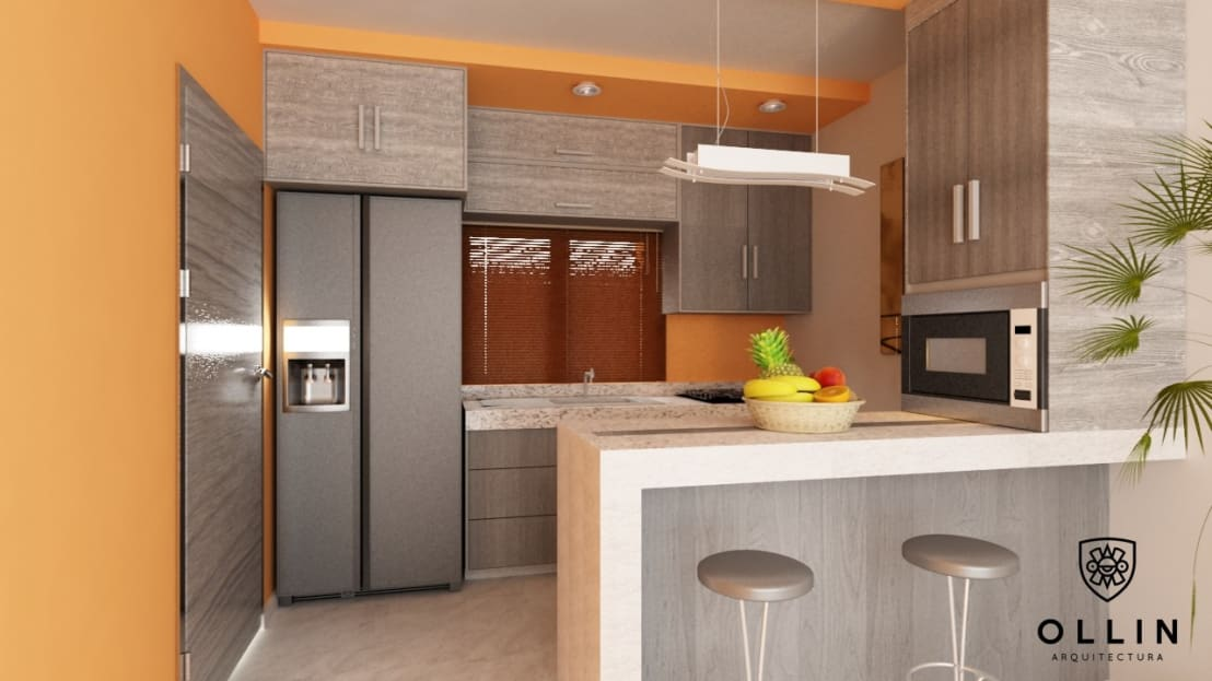 Cocina integral de ollin arquitectura homify for Cocina integral