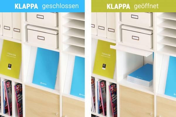 Arbeitszimmer ikea expedit  KLAPPA - Prospektklappe für Ikea Kallax Regal von NSD New Swedish ...