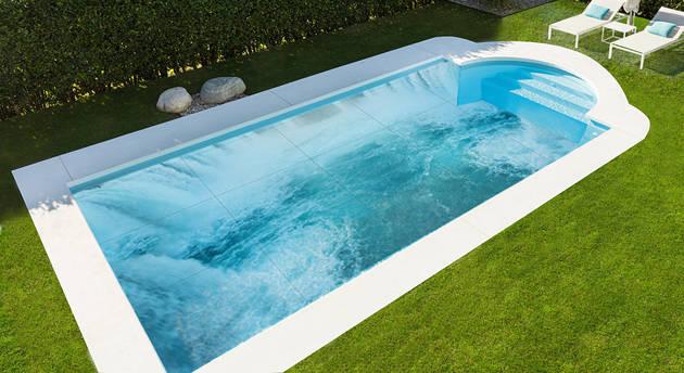 Decoraci n fondos y paredes piscina con murales de placas for Piscinas decoracion fotos