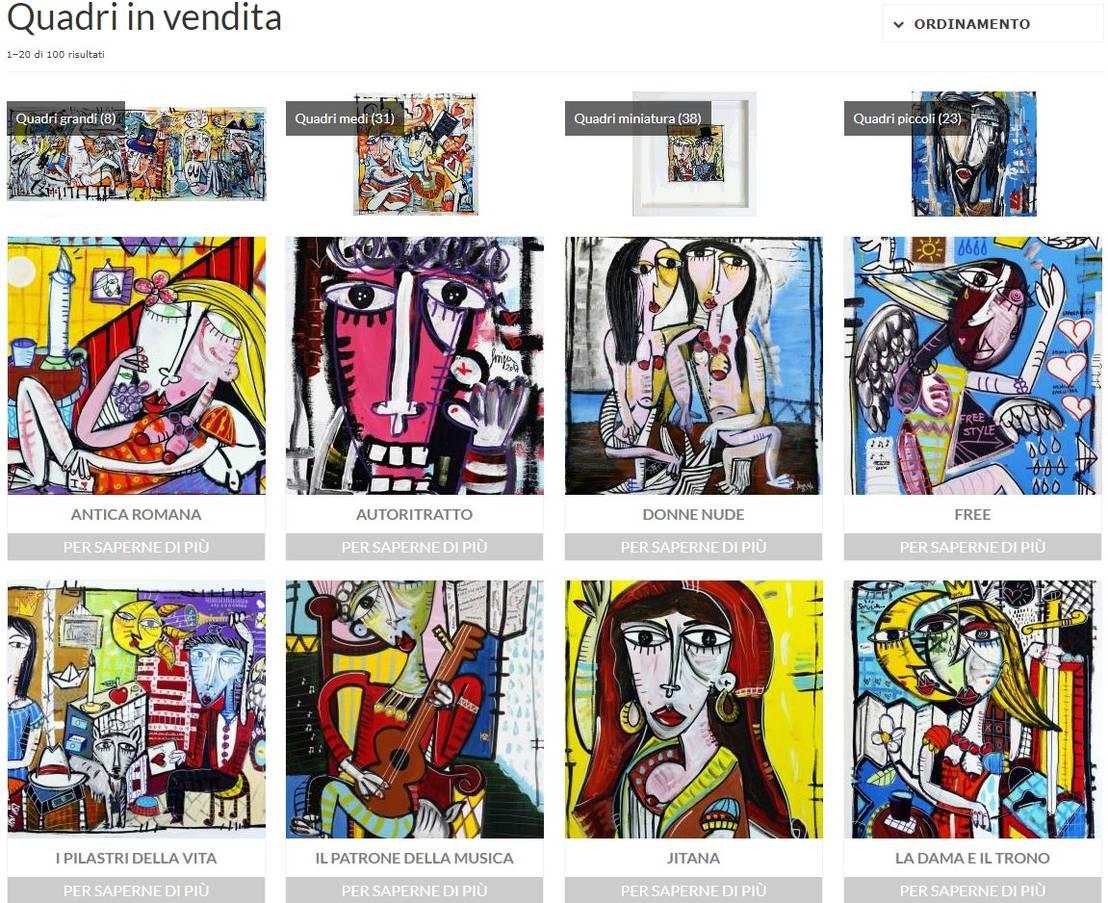 Quadri Moderni Roma Vendita quadri in vendita di quadri moderni di alessandro siviglia