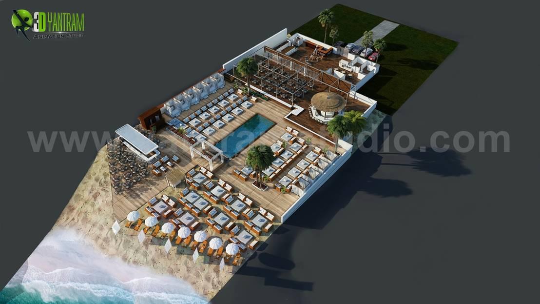 Beach Restaurant Floor Plan Example Ideas By Yantram Floor Plan Design Companies Paris France Homify