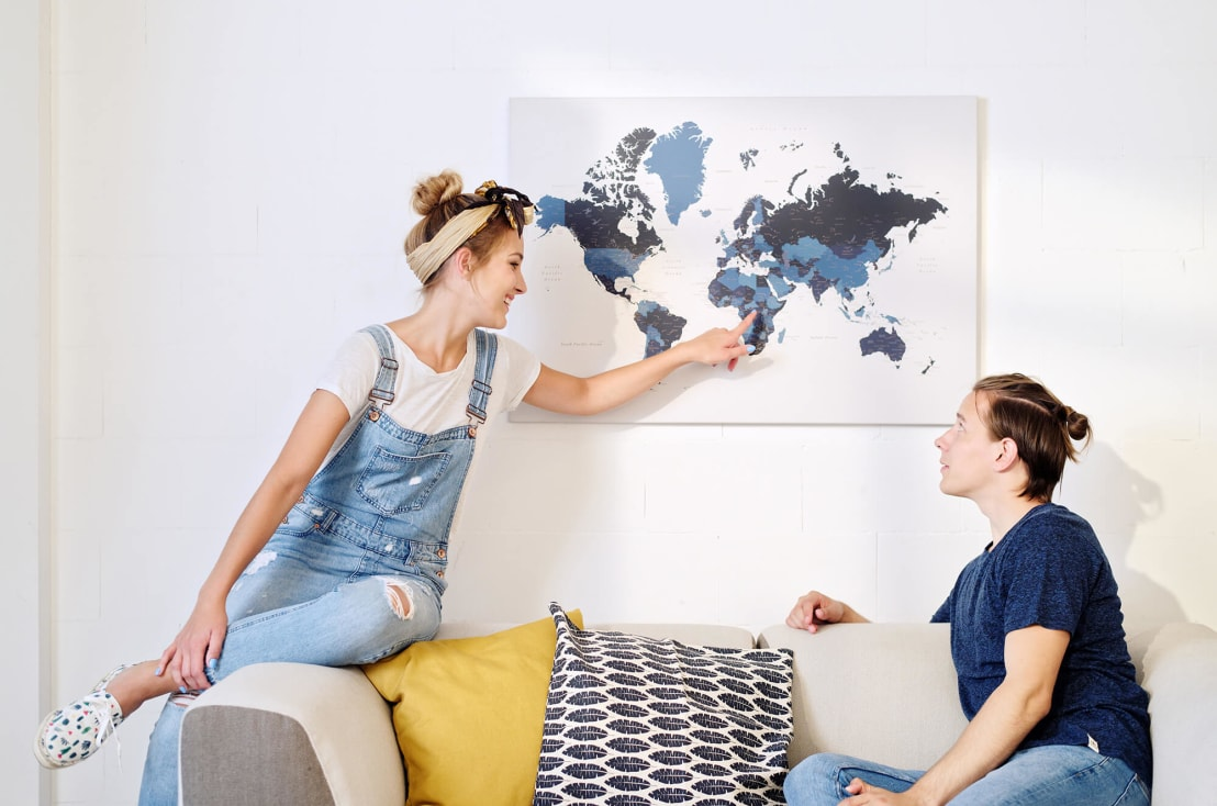 Weltkarte Mit Pins By Tripmapworld De Homify