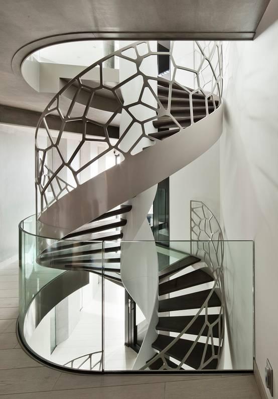 20 escadas em caracol para casas pequenas for Como hacer escaleras de fierro