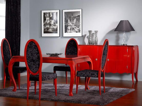 d coration rouge synonyme de passion. Black Bedroom Furniture Sets. Home Design Ideas