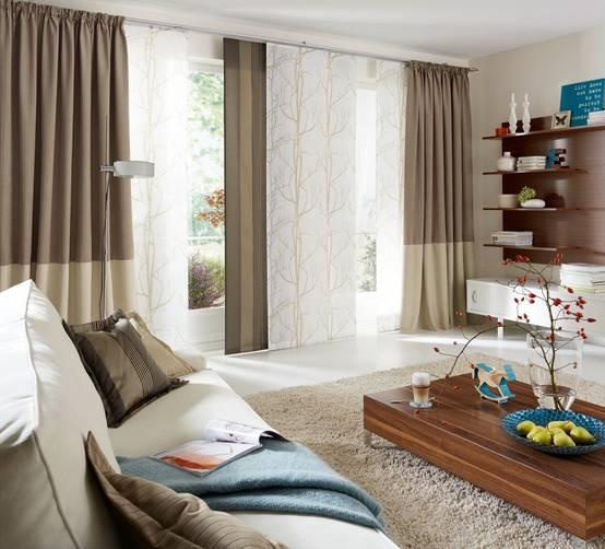 moderne gardinen und vorh nge. Black Bedroom Furniture Sets. Home Design Ideas