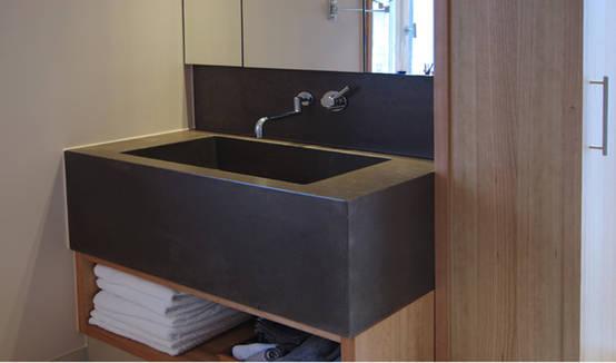Individuelles Betonwaschbecken für das besondere Badezimmer