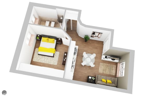 Progettare casa di 40 mq 15 esempi fantastici per ispirarti for Casa moderna 60 mq