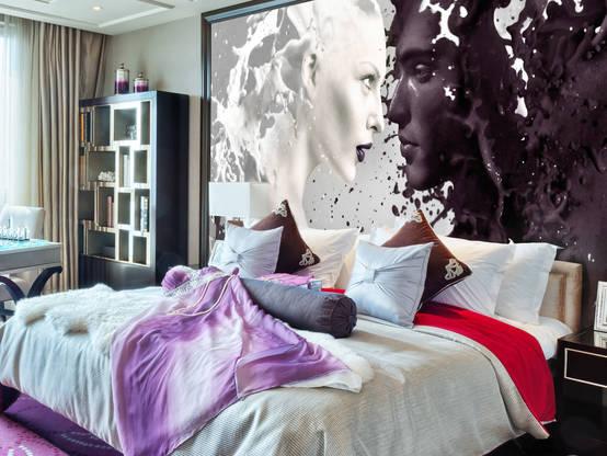Wie die richtige tapete dein ganzes schlafzimmer versch nert - Die richtige farbe furs schlafzimmer ...