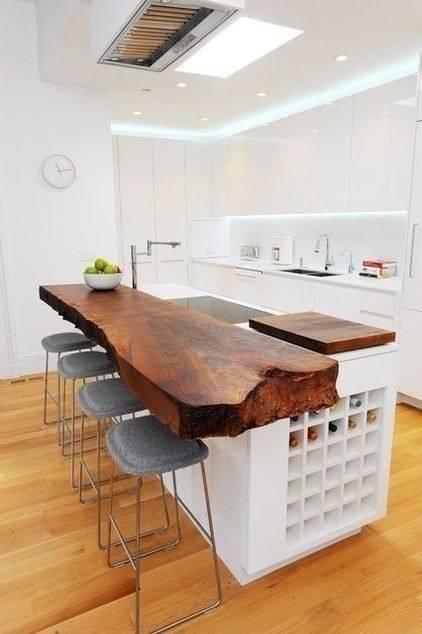 8 Islas en madera rústica que vas a querer hacer en tu cocina