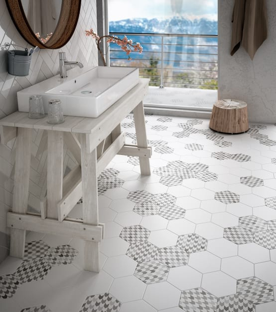 15 creative and affordable tile ideas for your bathroom for Carrelage 50x50