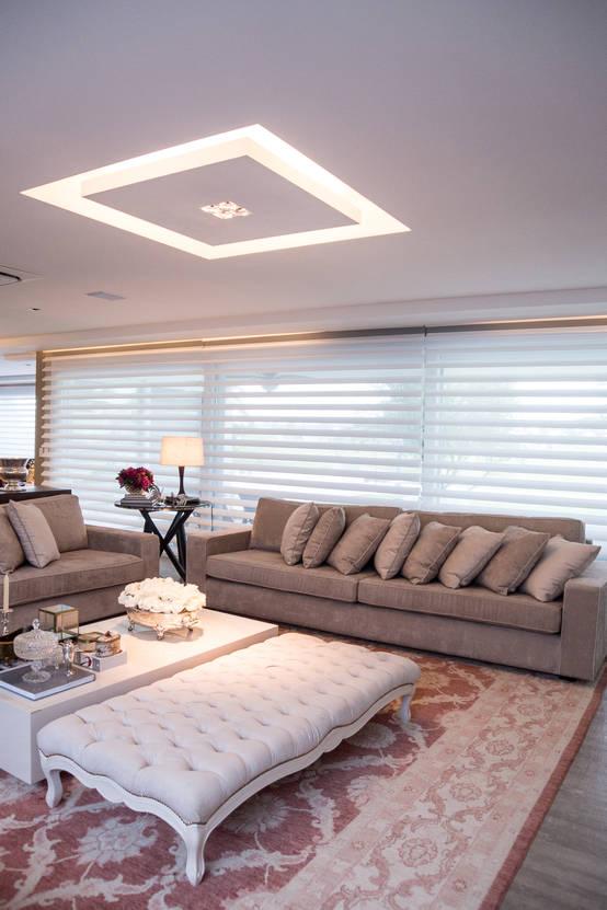 Iluminação perfeita para a sala de estar