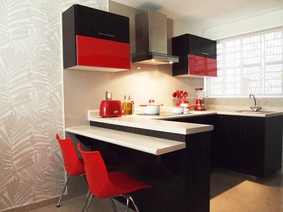 6 id es pour optimiser l 39 espace dans une petite cuisine. Black Bedroom Furniture Sets. Home Design Ideas
