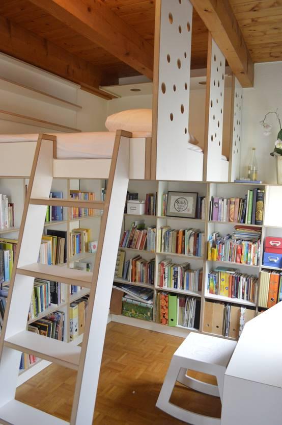 7 coole einbauregale f r b cher. Black Bedroom Furniture Sets. Home Design Ideas