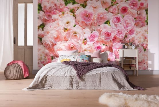 La vida en rosa ideas para decorar con este adorable color - Habitacion rosa palo ...