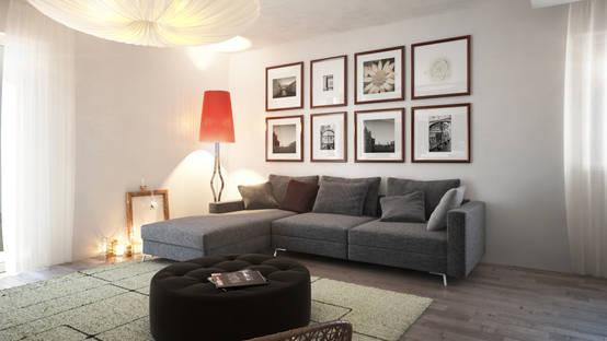 Il soggiorno moderno ecco il divano con penisola - Soggiorno con divano ...