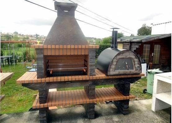 10 fantastici barbecue e cucine esterne da costruire in. Black Bedroom Furniture Sets. Home Design Ideas
