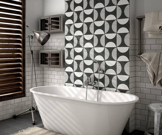 10 fabulosos estilos para los azulejos del ba o - Azulejos hexagonales ...