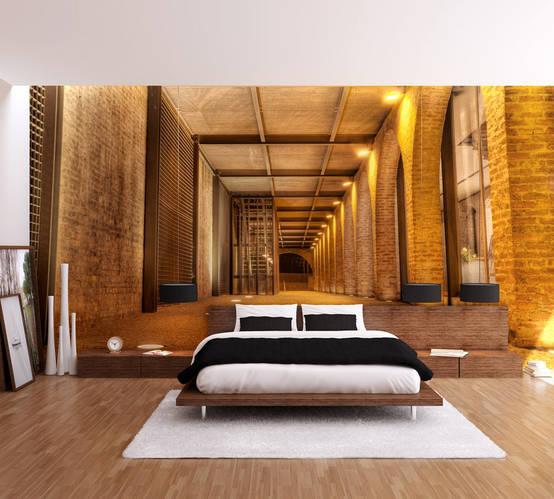 Ideias originais para papel de parede aplicado em quartos for Vinilos para murallas