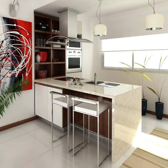 22 ideas sencillas para una cocina moderna y espectacular - Ideas de cocinas modernas ...