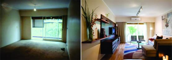 Remodelaci n incre ble de un peque o apartamento for Remodelacion de apartamentos pequenos
