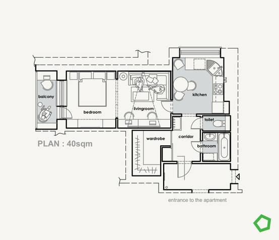 Una casa llena de inspiración en ¡sólo 40 m²!