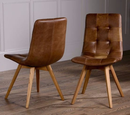 Cerato Leather Dining Chair (Pair)