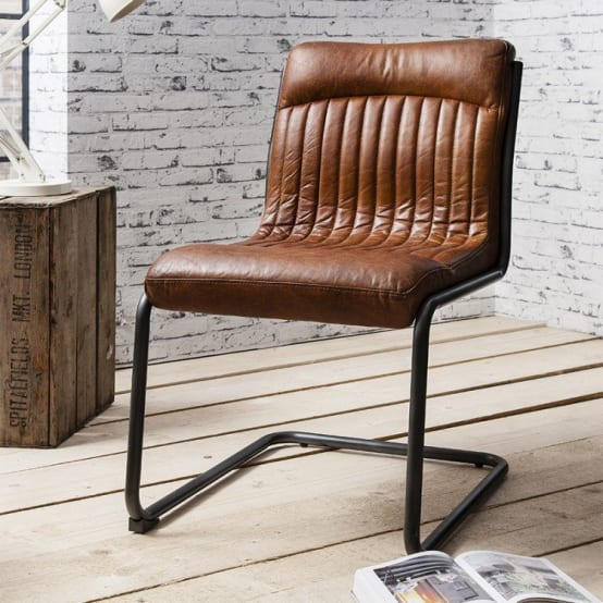 Hudson Living Capri Leather Dining Chair
