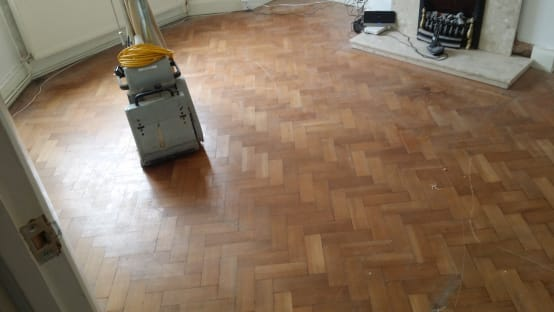 Parquet Blocks With Outworn Surface And Scratches