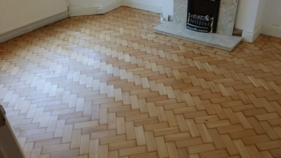Parquet Flooring After Sanding And Sealing