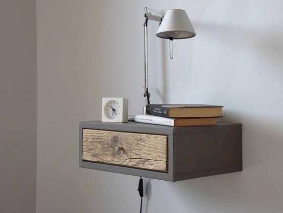 n idee per comodini salvaspazio in camera da letto. Black Bedroom Furniture Sets. Home Design Ideas