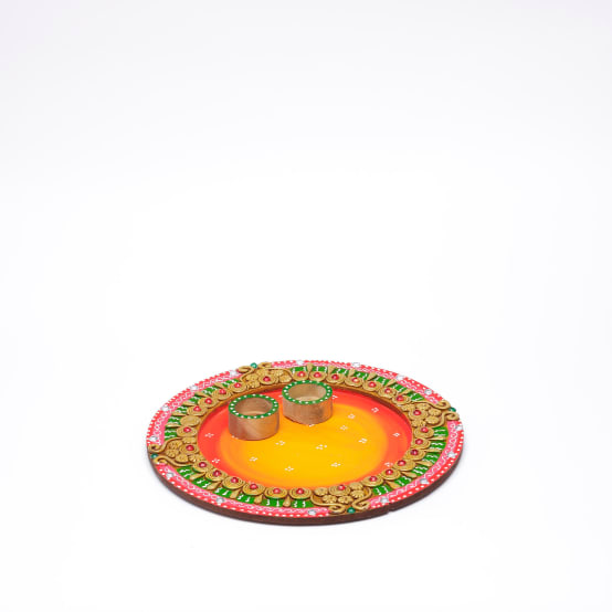 Homify for Aarti thali decoration with clay